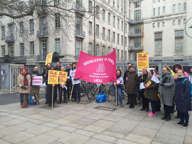 UCU Senate House strike day 1-3