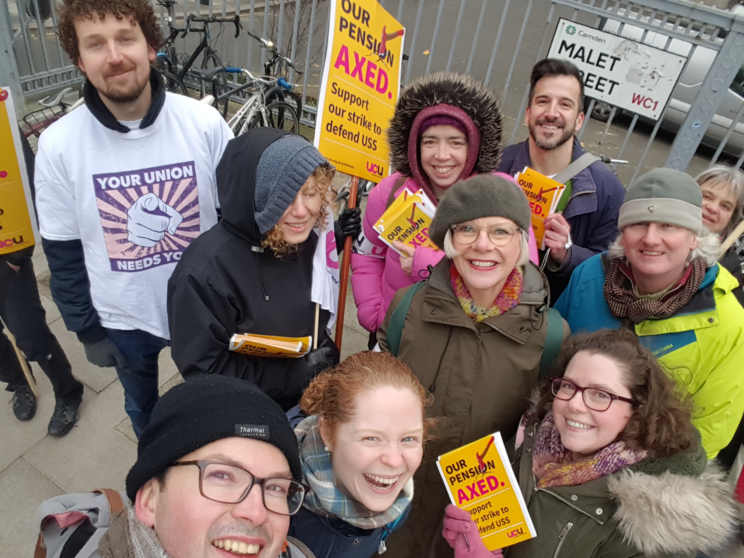 UCU Senate House strike day 1
