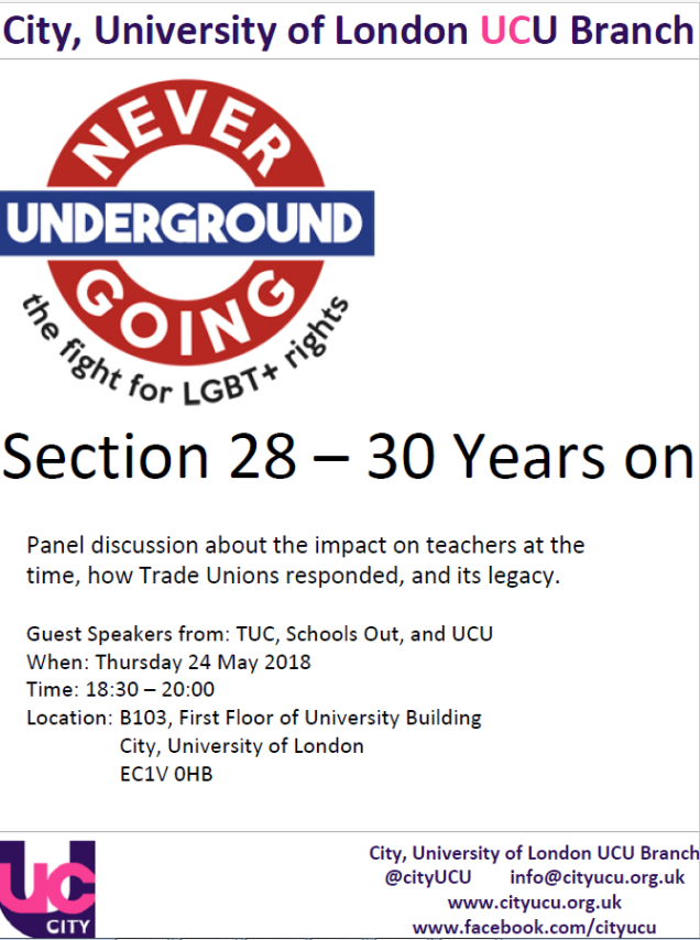 UCU City event 24 May
